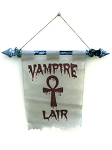 Vampire Lair Flag with Pole