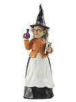 Halloween Witch with Spellbook Figurine