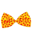 Yellow Polka Dot Clown Bow Tie
