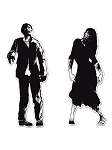 Zombie Silhouettes Cut-Outs