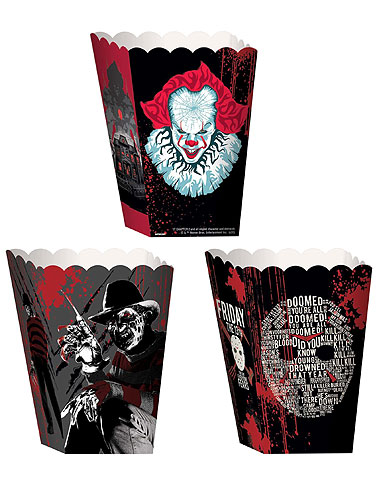 Warner Brother Horrror Popcorn Treat Boxes