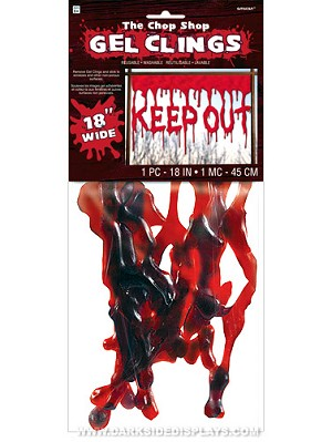 Bloody Keep Out Gel Cling