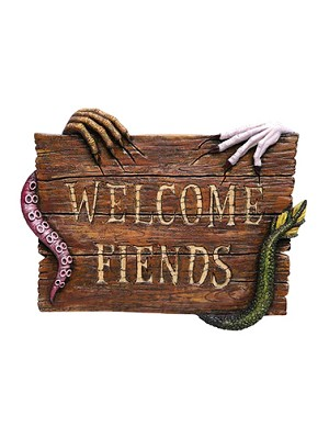 Welcome Fiends Wall Plaque