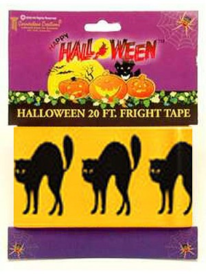 Black Cats Fright Tape
