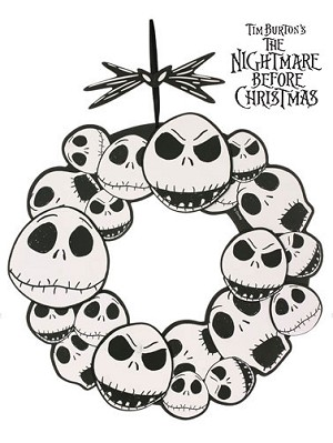 Jack Skellington Wreath