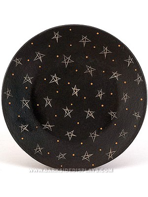 Wooden Star Candle Plate