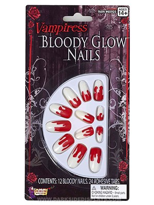 Bloody Glow In Dark Fingernails