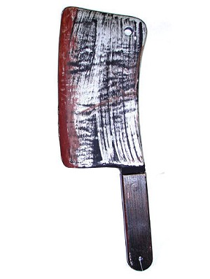 Bloody Weapons Cleaver Prop