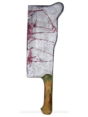 Bloody Meat Cleaver Prop