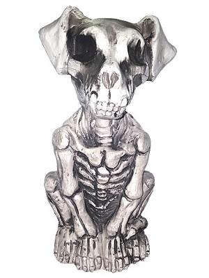 Plastic Skeleton Dog Halloween Decoration Scary Animal Props