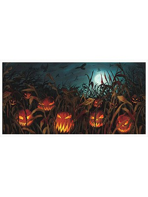 Field of Screams Plastic Banner