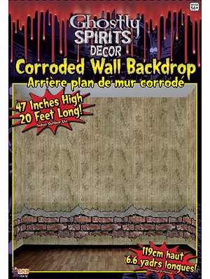 ghostly spirits corroded wall backdrop