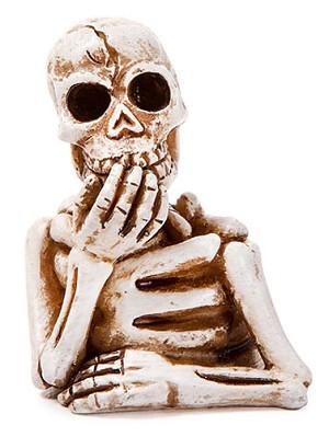 miniature skeleton figurine