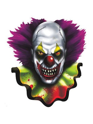 Creepy Carnival Clown Cut-Out