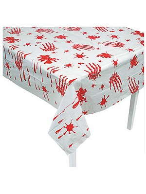 Bloody Handprints Table Cover