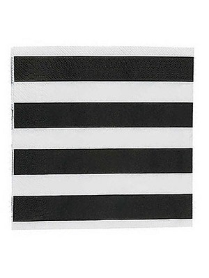 Black and White Stripes Luncheon Napkins