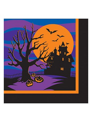 Halloween Silhouettes Luncheon Napkins