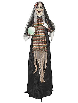 Animated Standing Fortune Telling Witch
