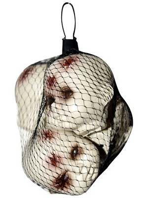 Bag of Bloody Doll Heads