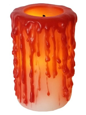 Bloody Flameless Pillar Candle