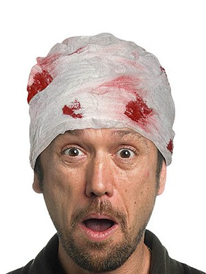 Bloody Head Bandage Accessory