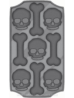 Skull and Bones Flexible Ice Mold