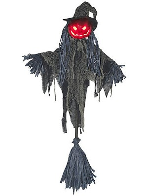 Broom Stick Pumpkin Scarecrow