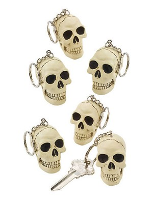 Skull Key Chain Party Favors
